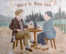 Enseigne d'un ancien cabaret de Meudon